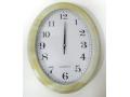 Zegar ścienny wskazówkowy owalny 33x25cm