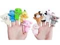 Kukiełki pacynki w kształcie zwierzątek - na palec
