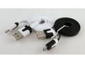 Kabel płaski micro USB ładowarka biały i czarny