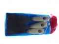 Szpachelki 3szt kpl. z drewnianymi rączkami