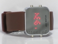 ZEGAREK LED WATCH 588-589 SILICON BROWN