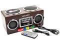 RADIO RETRO PRZENOŚNY GŁOŚNIK MP3 SD USB PILOT