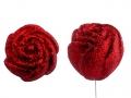 WALENTYNKOWA  Róża z brokatem