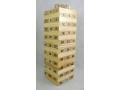 Gra edukacyjna ala Jenga drewniana wieża z cyframi