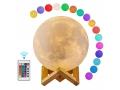LAMPKA KSIĘŻYC MOON LIGHT 3D z pilotem 16 kolorów