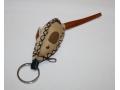 Brelok do kluczy skórzany w kształcie myszy