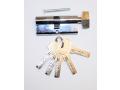 Wkładka do zamka 70mm srebrna 5 kluczy motylek