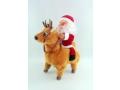 Mikołaj jadący na reniferze (chodzi)