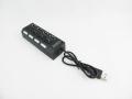 Kabel rozgałęziacz USB hub 4xusb z wyłącznikami