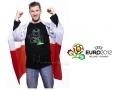 Euro 2012 flaga Polski zakładana na ręce 153x90
